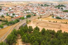 Un borgo nella regione della Mancia - Spagna