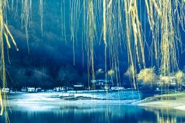 Lago di Ledro in un'alba autunnale - Trento